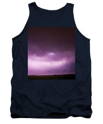 Tank Top featuring the photograph Nebraska Night Thunderstorms 013 by NebraskaSC