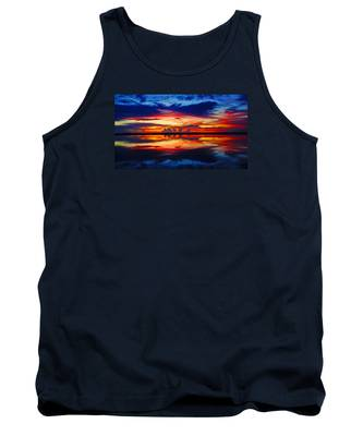 Sunrise Rainbow Reflection Tank Top