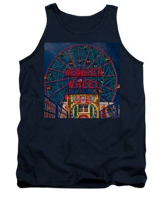 The Wonder Wheel At Luna Park Tank Top