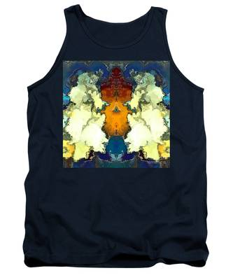 Tank Top featuring the digital art Fuego  by A z Mami