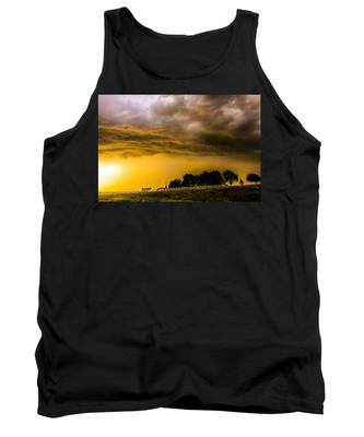 Tank Top featuring the photograph Late Afternoon Nebraska Thunderstorms by NebraskaSC