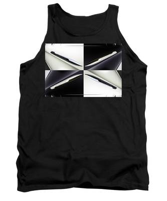 B And W Chevy Tank Top