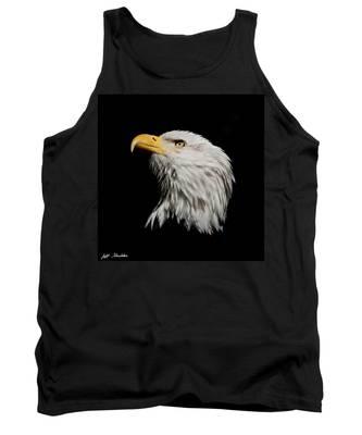 Bald Eagle Looking Skyward Tank Top