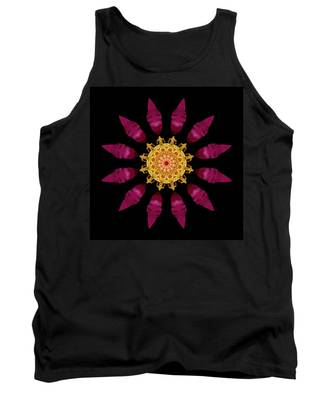 Beach Rose Iv Flower Mandala Tank Top