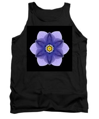 Blue Pansy I Flower Mandala Tank Top