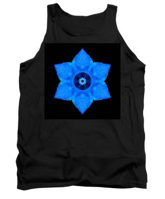 Blue Pansy II Flower Mandala Tank Top