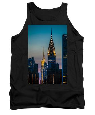Chrysler Building At Sunset Tank Top