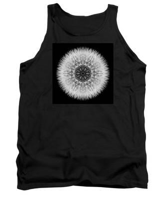 Dandelion Head Flower Mandala Tank Top