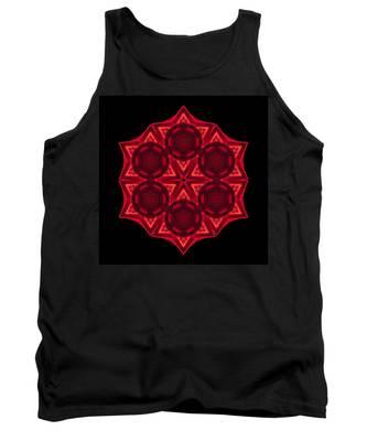 Dying Amaryllis IIi Flower Mandala Tank Top