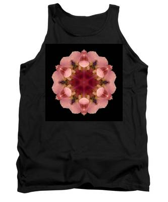 Iris Germanica Flower Mandala Tank Top