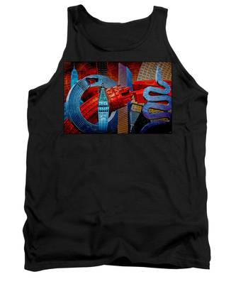 New York City Park Avenue Sculptures Reimagined Tank Top
