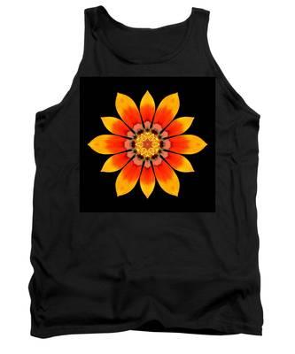 Orange Gazania I Flower Mandala Tank Top