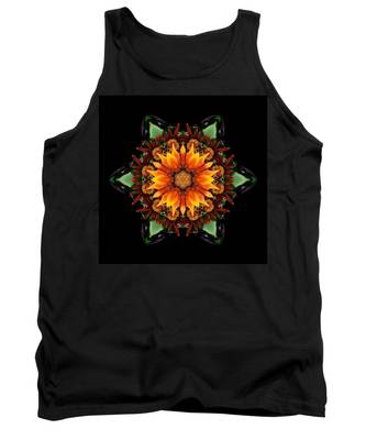 Orange Gazania IIi Flower Mandala Tank Top
