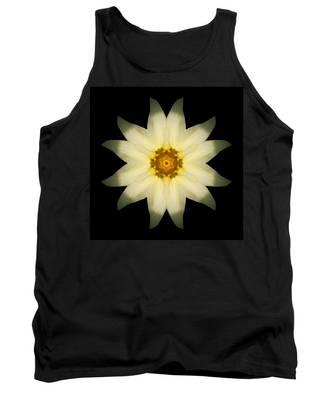 Pale Yellow Daffodil Flower Mandala Tank Top