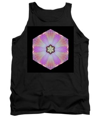 Pink And White Hibiscus Moscheutos I Flower Mandala Tank Top