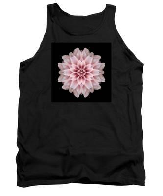 Pink Dahlia Flower Mandala Tank Top