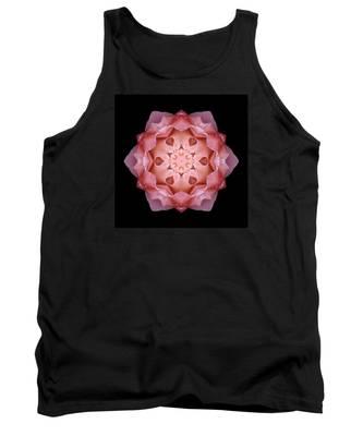 Pink Fall Rose Flower Mandala Tank Top