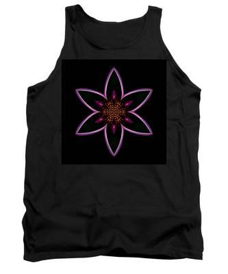 Purple Echinacea Flower Mandala Tank Top