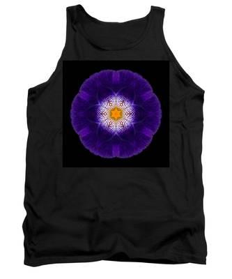 Purple Iris II Flower Mandala Tank Top
