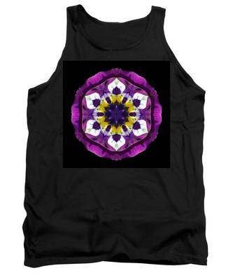 Purple Pansy II Flower Mandala Tank Top
