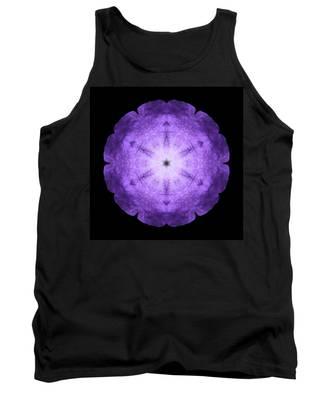 Purple Petunia I Flower Mandala Tank Top