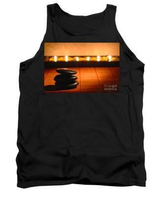 Stone Cairn And Candles For Quiet Meditation Tank Top