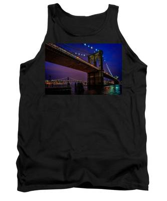 Twilight At The Brooklyn Bridge Tank Top