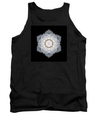 White Rose I Flower Mandala Tank Top