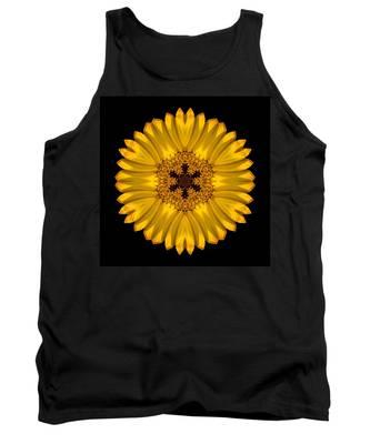 Yellow African Daisy Flower Mandala Tank Top