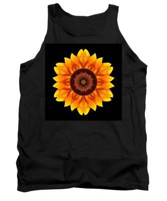 Yellow And Orange Sunflower Vi Flower Mandala Tank Top