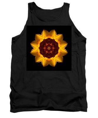 Yellow Daffodil I Flower Mandala Tank Top