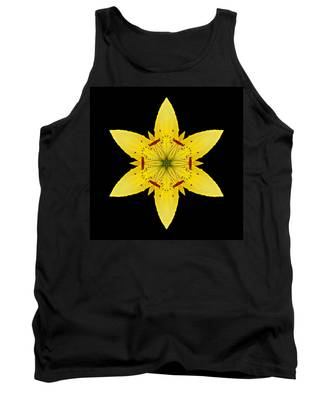 Yellow Lily I Flower Mandala Tank Top