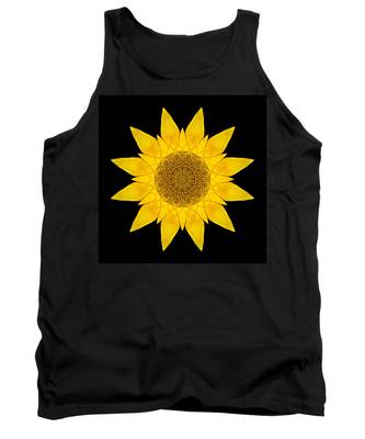 Yellow Sunflower X Flower Mandala Tank Top