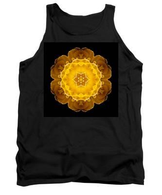 Yellow Tulip II Flower Mandala Tank Top