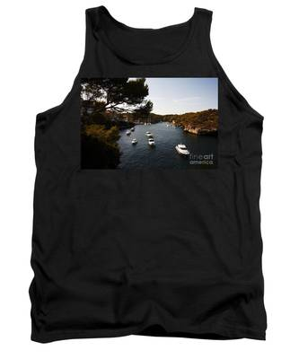 Boats In Cala Figuera Tank Top