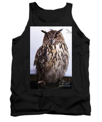 Orange Owl Eyes Tank Top