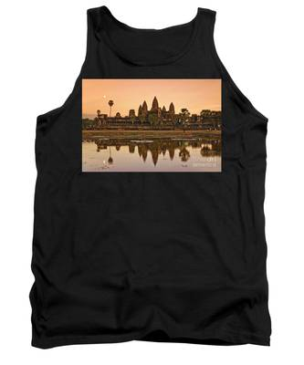 Tank Top featuring the photograph Angkor Wat by Juergen Held