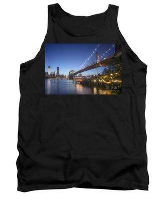 Tank Top featuring the photograph Brooklyn Brdige New York  by Juergen Held
