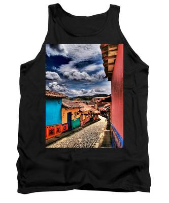 Tank Top featuring the photograph Calle De Colores by Skip Hunt