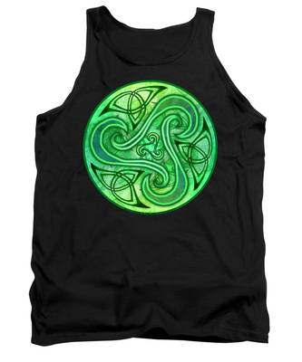 Celtic Triskele Tank Top