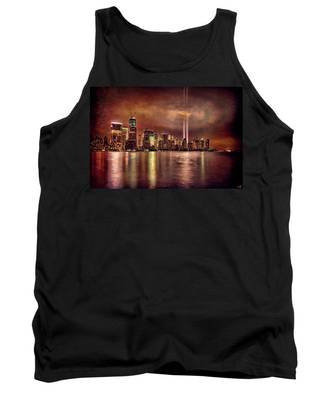 Downtown Manhattan September Eleventh Tank Top