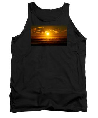 Foggy Gold Sunrise Tank Top