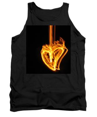 Hearts Aflame -falling In Love Tank Top