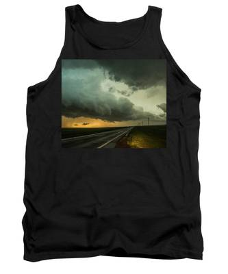 Tank Top featuring the photograph Kansas Storm Chase Bust Day 004 by NebraskaSC
