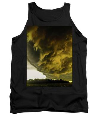 Tank Top featuring the photograph Nebraska Supercell, Arcus, Shelf Cloud, Remastered 018 by NebraskaSC