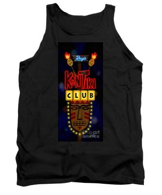 Nightclub Sign Rays Kon Tiki Club Tank Top