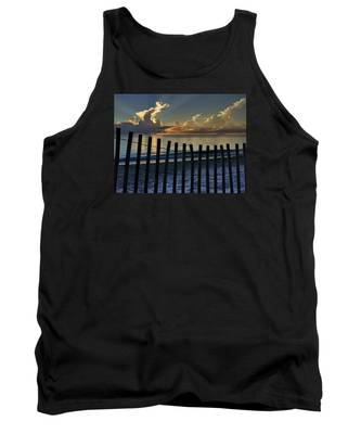 Picket Fence On The Beach Tank Top