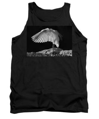 Preening Great Egret By H H Photography Of Florida Tank Top