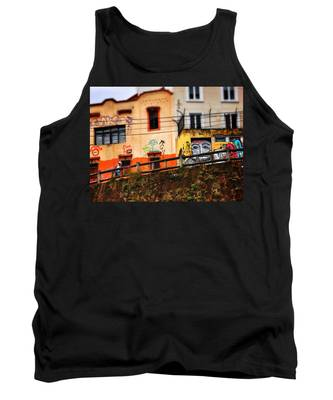 Tank Top featuring the photograph Saks by Skip Hunt