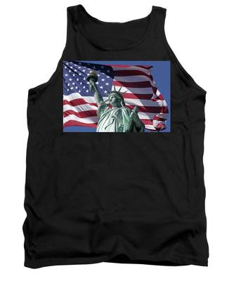 Tank Top featuring the photograph Statue Of Liberty New York  by Juergen Held